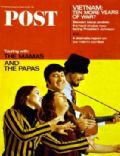 Denny Doherty, John Phillips, 'Mama' Cass Elliot, Michelle Phillips, Michelle Phillips and Denny Doherty, Michelle Phillips and John Phillips on the cover of Saturday Evening Post (United States) - March 1967