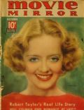 Bette Davis on the cover of Movie Mirror (United States) - October 1936