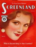 Sidney Fox on the cover of Screenland (United States) - January 1933