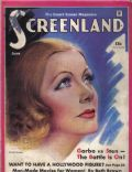 Greta Garbo on the cover of Screenland (United States) - June 1934