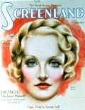 Marlene Dietrich on the cover of Screenland (United States) - October 1934