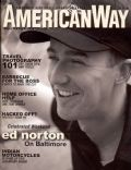 Edward Norton on the cover of American Way (United States) - July 2001