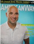 Andre Agassi on the cover of American Way (United States) - August 2007