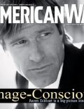 Aaron Eckhart on the cover of American Way (United States) - March 2008