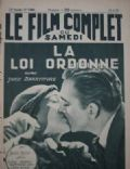 John Barrymore on the cover of Le Film Complet (France) - August 1933