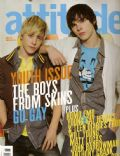 Mitch Hewer, Nicholas Hoult on the cover of Attitude (United Kingdom) - March 2007