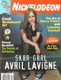 Avril Lavigne on the cover of Nickelodeon (United States) - February 2003