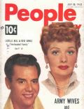 Desi Arnaz, Lucille Ball, Lucille Ball and Desi Arnaz on the cover of People Today (United States) - July 1952