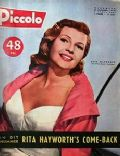 Rita Hayworth on the cover of Piccolo (Belgium) - April 1957