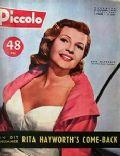 Rita Hayworth on the cover of Piccolo (Belgium) - April 1957