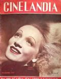 Marlene Dietrich on the cover of Cinelandia (Argentina) - December 1937