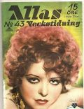 Clara Bow on the cover of Allas Veckotidning (Sweden) - October 1934