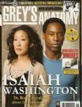 Isaiah Washington, Isaiah Washington and Sandra Oh, Sandra Oh on the cover of Greys Anatomy Magazine (United States) - May 2007
