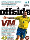 Fredrik Ljungberg on the cover of Offside (Sweden) - October 2006