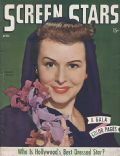 Paulette Goddard on the cover of Screen Stars (United States) - April 1945