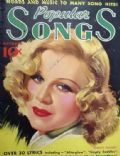 Ginger Rogers on the cover of Popular Songs (United States) - October 1936