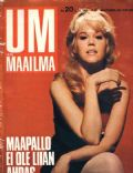 Jane Fonda on the cover of Um Maailma (Finland) - October 1968