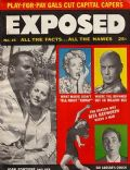 Harry Belafonte, Harry Belafonte and Joan Fontaine, Joan Fontaine, Sid Caesar, Yul Brynner on the cover of Exposed (United States) - June 1957