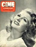 Rita Hayworth on the cover of Cine Roman (Belgium) - September 1949