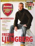 Fredrik Ljungberg on the cover of Arsenal Magazine (United Kingdom) - 2003