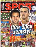 Cesc Fàbregas, Lionel Messi, Zlatan Ibrahimovic on the cover of Giga Sport (Poland) - April 2012
