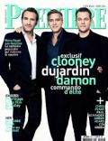 George Clooney, Jean Dujardin, Matt Damon on the cover of Premiere (France) - March 2014