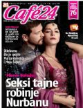 Engin Öztürk, Merve Bolugur on the cover of Cafe 24 (Croatia) - November 2013