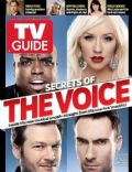 Adam Levine, Blake Shelton, Cee-Lo, Christina Aguilera on the cover of TV Guide (United States) - May 2011