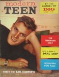 Tab Hunter on the cover of Modern Teen (United States) - June 1957