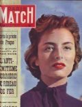 Marina Berti on the cover of Paris Match (France) - December 1952