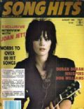 Joan Jett on the cover of Song Hits (United States) - August 1983