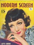 Claudette Colbert on the cover of Modern Screen (United States) - November 1934