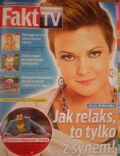 Daria Widawska on the cover of Fakt TV (Poland) - September 2010