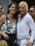 Julia Lemigova and Martina Navratilova