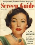 Gene Tierney on the cover of Screen Guide (United States) - May 1950