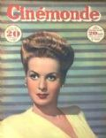 Maureen O'Hara on the cover of Cinemonde (France) - December 1947