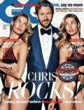 Chris O'Dowd, Jessica Hart on the cover of Gq (United Kingdom) - April 2014