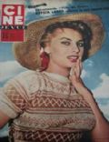 Sophia Loren on the cover of Cine Revue (France) - November 1955
