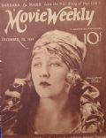 Anna Q. Nilsson on the cover of Movie Weekly (United Kingdom) - December 1924