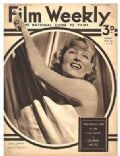 Carole Lombard on the cover of Film Weekly (United Kingdom) - November 1934