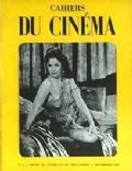 Hedy Lamarr on the cover of Cahiers Du Cinema (France) - September 1951