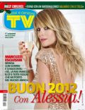 Alessia Marcuzzi on the cover of TV Sorrisi E Canzoni (Italy) - January 2012