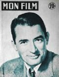 Gregory Peck on the cover of Mon Film (France) - January 1957