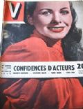 Jeanne Crain on the cover of V (France) - February 1949