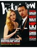 Edward Norton, Edward Norton and Evan Wood, Evan Rachel Wood on the cover of Interview (United States) - May 2006