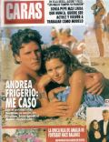 Andrea Frigerio on the cover of Caras (Argentina) - January 1993