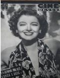 Myrna Loy on the cover of Cine Revue (France) - November 1948