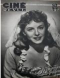 Paulette Goddard on the cover of Cine Revue (France) - February 1949