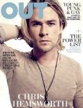 Chris Hemsworth on the cover of Out (United States) - May 2012