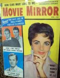 Elizabeth Taylor on the cover of Movie Mirror (United States) - April 1959